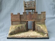 Gate Of The Roman Wooden Fortress. Scale 1/32 54 Mm. Material Resin Wood