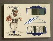 2019 Flawless Miles Sanders Rc Auto 5 Clr Jersey Patch Rpa Ser Ed /10 Eagles