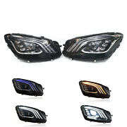 For 13-17 Mercedes Benz S-class W222 Headlights Facelift Upgrade 2018+ Led Set