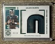 2020 Panini Encased Phi Jalen Hurts Rc Substantial Rookie Swatches 09/10 Srs-14