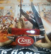 Case Xx Knife Pilot Test Run Trapper With Red Bone Handles And Mop Bomb Shield