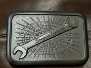 Vintage Snapon Belt Buckle, Snap On Wrench Heavy Metal Buckle