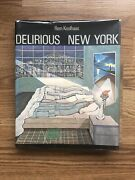 Signed Rem Koolhaas Delirious New York Original Hardcover With Dust Jacket