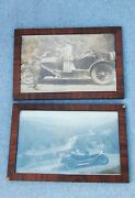 Silent Film/ Talkie Movie Production Photo Lot 2 Framed Western Cowgirl Stars