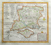 Hampshire Isle Of Wight P.meijer Very Scarce Original Antique County Map 1758