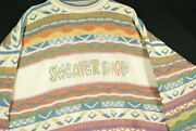 Vintage 90s The Sweater Shop 3d Abstract Cosby Biggie Sweater Hippie Mod Gogo