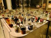 Lot Of 56 Shot Glasses Collection All Unique From All Around The World Wow