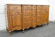 French Cherry Credenza Buffet Sideboard Bathroom Vanity By Union National 1974