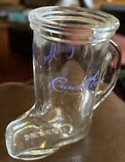 Crown Royal Boot Shot Glasses Blue Lettering, Glass, Canadian Whiskey