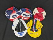 Cycling Hat Lot Of 5 Bicycle Cap Lot Italy Usa Lotto Domo Refin Tour De France