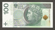 Poland 100 Zlotych 5.1.2012 Unc P-186 L-b862a King Coat Of Arms Swords