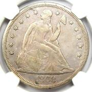 1868 Seated Liberty Silver Dollar 1 - Certified Ngc Xf Detail Ef - Rare Date