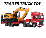 Flatbed Trailer Trucks Toy Alloy Roller Excavator Series Toys Transport Vehicle