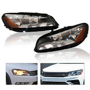 2pcs Left And Right Halogen Headlamps Assembly For 2012-2015 Vw Volkswagen Passat