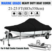 21-23 Ft Waterproof Boat Cover Marine Grade Fits V-hull Center Console Boats Us