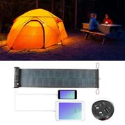 Foldable Solar Panel Power Charger Led Dual Usb Charger W/flashlight Outdoor