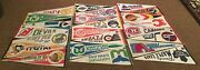 Vintage Nhl Pennants Lot Of 23 - 70s 80s Early 90s