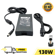 130w Dell Genuine Oem Power Charger For Laptop Xps 15d 1828 2528 2721 With Cord