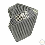 Lnwot Brioni Multi-color 100 Silk Pleated Patchwork Jacquard Self-tipped Tie
