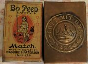 """Vintage Wwi German Soldiers Match Box Gott Mit Uns Trench Art 2 And 3/8"""" By 1.5"""""""
