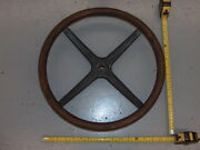 Vintage Model T Wooden 4 Spoke Steering Wheel 16andrdquo Ford Pontiac Chevy Buick