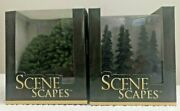2 Boxes Bachmann Scene Trees 2 Deciduous And 6 Spruce For Train Platform New