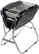 Portable Charcoal Grills Foldable Stainless Steel Outdoor Bbq Grill Smoker...