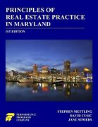 Principles Of Real Estate Practice In Maryland 1st Ed - Brand New
