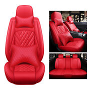 Luxury Red Leather Car Cushions Auto Accessories Interior Fully Cover Suv 5-seat