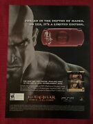 God Of War Chains Of Olympus Psp Playstation Xbox 2008 Ad/poster Promo Art Ad