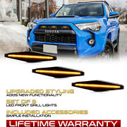 Fit 14-21 Toyota 4runner Amber Led Strip Grille Lights Front Clearance Lamps Kit