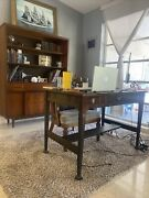 Antique Knoxville Table And Chair Company Library Desk.