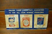 Vintage 1950s/1960s Camp Laboratories Toilet Septic Tank Cleaner Chemicals Sign