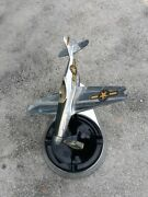 Vintage Allyn Aero Novelty Chrome Ww2 P-51 Mustang Desk Top With Black Ashtray