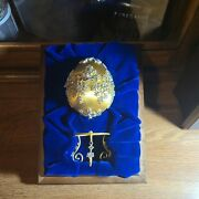 Faberge Egg By Franklin Mint Winter Enchantment