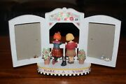 Mary Engelbreit Make A Wish Figurine With Picture Frame / Has Music Box