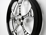 Black Contrast 23x3.75andrdquo Usa Wheel Harley-davidson 13 And Below Road Glide W/abs