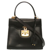 Lady Rock Razor Black Vintage 26 000 0211 2way Handbag Bag 0049 _54901