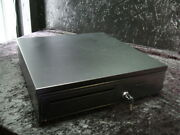 Safe Cash Drawer With 5 Bank Notes And 5 Coins Removable Tray Black 2 Keys