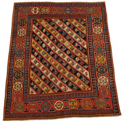 Small Ganjeh-caucasian Hand-made Rug - 3and0392 X 3and0397