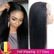 Kinky Straight Wig 4x4 Closure Wig Preplucked Remy 134 Lace Front Human Hair