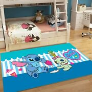 80x160cm Lilo And Stitch Baby Play Mat 3d Carpets For Living Room Bedroom Area