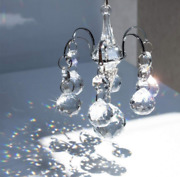 Crystal Sparkle Chandelier Wind Chime Porch Balcony Hanging Suncatcher Window