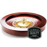 Deluxe 19.5 Casino Grade Full Size Roulette Wheel Handcrafted Wood With 2 Balls