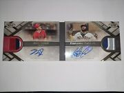 2021 Topps Tier One Mike Trout/fernando Tatis Jr Dual Auto Relic Booklet 5/10
