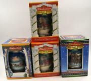 Vintage Budweiser Holiday Stein Set Of 4 Mugs 200,2001 And 2002 New In The Box