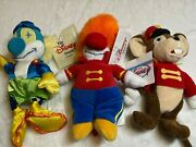 Disney Store Bean Bag Plush Dumbo Clowns And Timothy Mouse New 9 8 New Lot 3