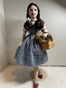 Franklin Heirloom Collection Mint Wizard Of Oz Dorothy Gale With Toto And Basket