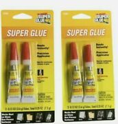 Super Glue Tube 2-pack 4 Metal Wood Rubber And Plastic = The Original Lot Of 2