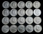 Roll Of 20 1964 50c Kennedy Silver Half Dollars - Uncirculated - Free Ship Us
